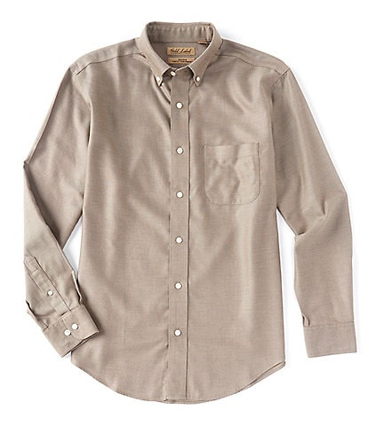 Roundtree & Yorke Gold Label Long-Sleeve Solid Dobby Sportshirt