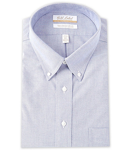 Roundtree & Yorke Gold Label Roundtree & Yorke Big & Tall Non-Iron Button-Down Collar Solid Oxford Dress Shirt