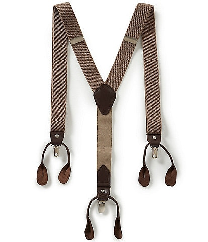 Roundtree & Yorke Heather Stretch Solid Suspenders