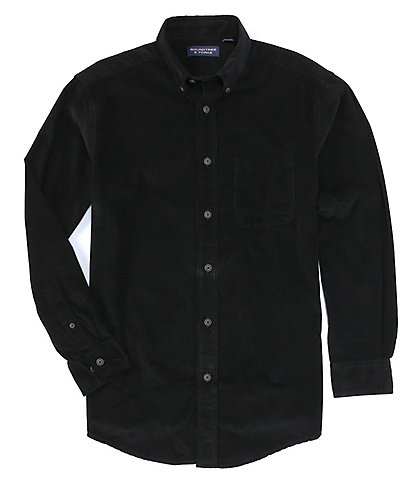 Roundtree & Yorke Long-Sleeve Solid Corduroy Button-Down Shirt