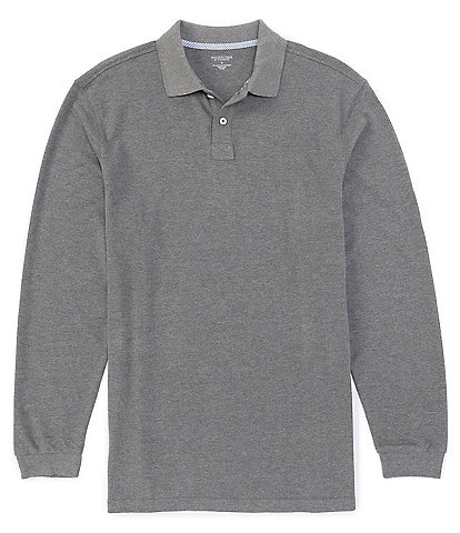 Roundtree & Yorke Long Sleeve Solid Pique Polo