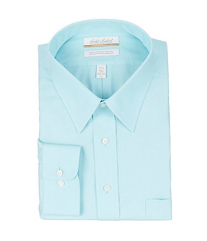Roundtree & Yorke Big & Tall Non-Iron Point Collar Solid Pinpoint Dress Shirt