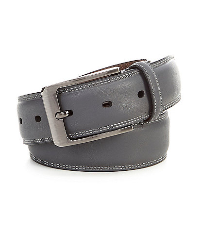 Roundtree & Yorke Oil Touch Leather Dress Belt