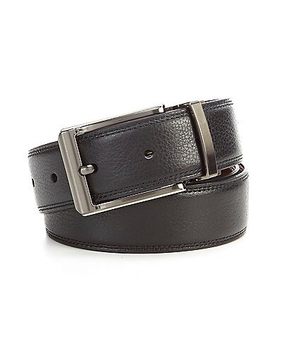 Roundtree & Yorke Pebble Strap Reversible Leather Belt