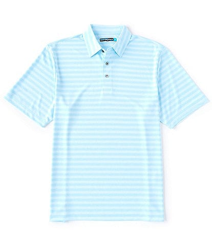 Roundtree & Yorke Performance Short-Sleeve Space Dyed Striped Polo