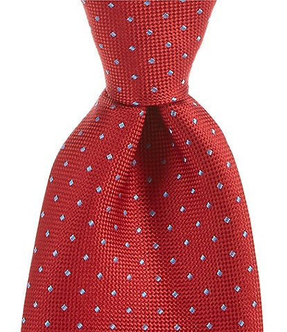 Roundtree & Yorke Sherer Dot Traditional 3 3/8#double; Silk Tie