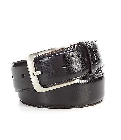 Roundtree & Yorke Shiny Dress Leather Belt