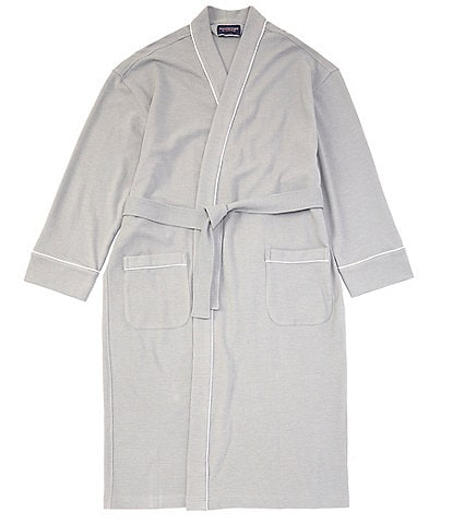 Roundtree & Yorke Solid Waffle Kimono Robe