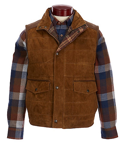 Roundtree & Yorke Suede Leather Vest