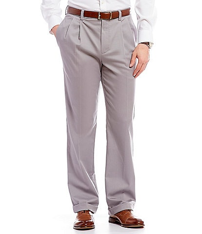 Roundtree & Yorke TotalFLEX Classic Fit Pleated CoreComfort Waistband Easy Care Pants