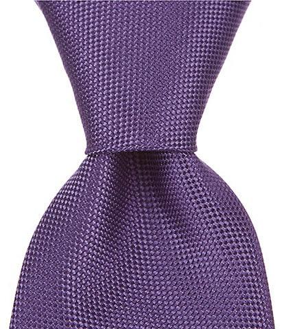 Roundtree & Yorke Trademark Plenny Solid Narrow 3 1/8#double; Silk Tie