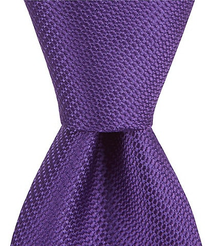 Roundtree & Yorke Trademark Plenny Solid Skinny 2.75#double; Silk Tie
