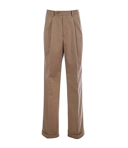 Roundtree & Yorke Travel Smart Classic Fit Pleat Front Ultimate Comfort Stretch Chino Pants