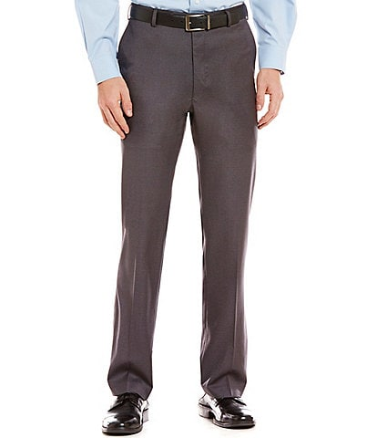 Roundtree & Yorke TravelSmart Luxury Gabardine Ultimate Comfort Classic Fit Flat Front Non-Iron Dress Pants
