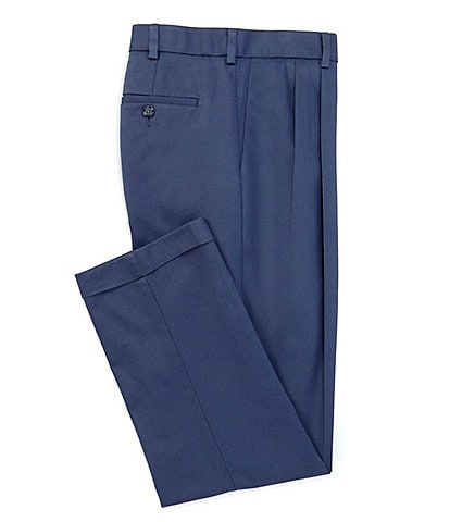 Roundtree & Yorke TravelSmart CoreComfort Big & Tall Non-Iron Pleated Classic Relaxed Fit Chino Pants