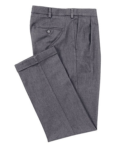 Roundtree & Yorke TravelSmart CoreComfort Non-Iron Pleated Classic/Relaxed Fit Chino Pants