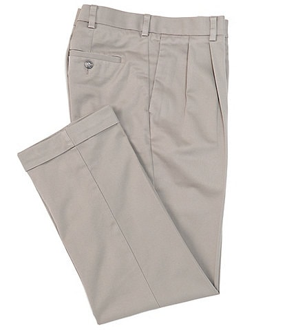 Roundtree & Yorke TravelSmart CoreComfort Non-Iron Pleated Classic Relaxed Fit Chino Pants