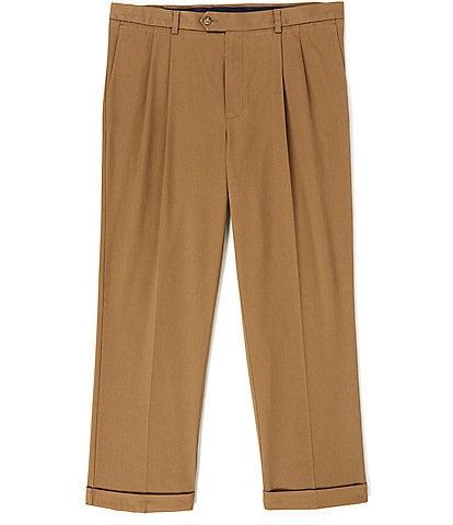 Roundtree & Yorke TravelSmart CoreComfort Pleated Classic Relaxed Fit Chino Pants