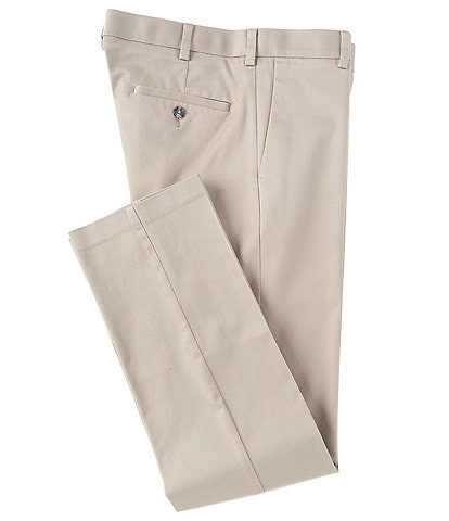 Roundtree & Yorke TravelSmart CoreComfort Flat-Front Straight Fit Chino Pant