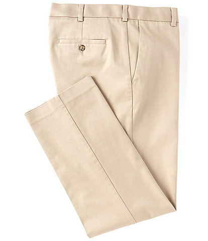 Roundtree & Yorke TravelSmart CoreComfort Flat-Front Straight Fit Chino Pant