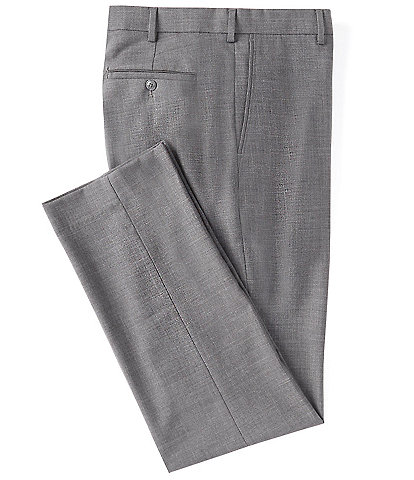 Roundtree & Yorke TravelSmart Ultimate Comfort Easy Care Classic Fit Flat-Front Linen Look Dress Pants
