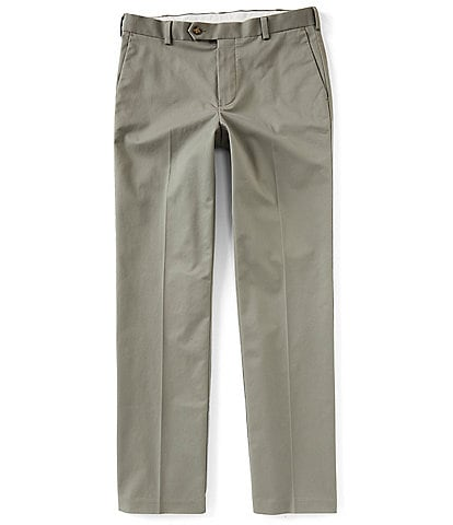 Roundtree & Yorke TravelSmart Non-Iron Flat Front Straight Fit Ultimate Comfort Stretch Chino Pants
