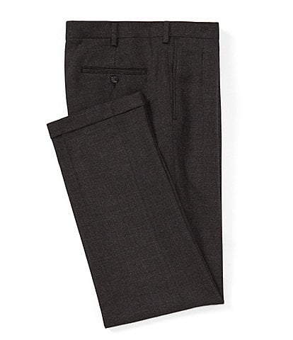Roundtree & Yorke TravelSmart Ultimate Comfort Pleated Speckle Relaxed Fit Dress Pants