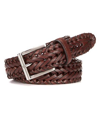Roundtree & Yorke V-Braided Leather Belt