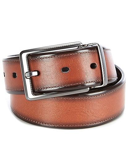 Roundtree & Yorke Walnut Reversible Leather Belt