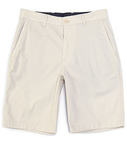 Rowm 10#double; Inseam Flat-Front Stretch Chino Shorts
