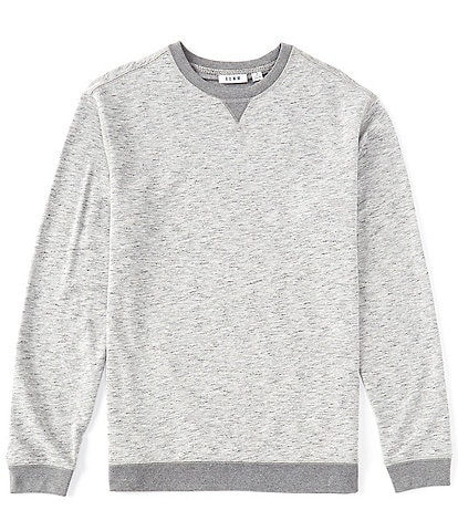 Rowm Long-Sleeve Heather French Terry Crew Pullover