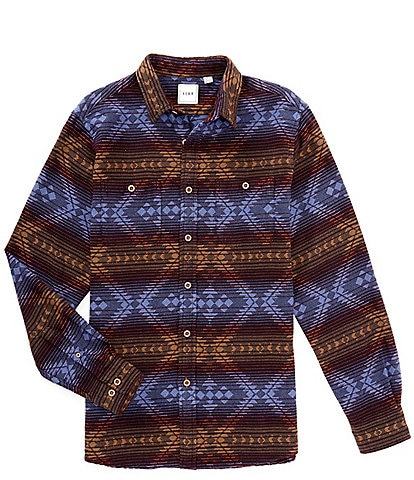 Rowm Long-Sleeve Tribal Jacquard Brushed Mid-Weight Shirt Jacket