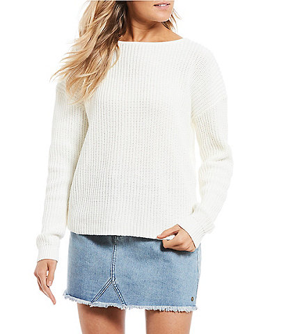 Roxy Bamboo Bridge Twist Open Back Sweater