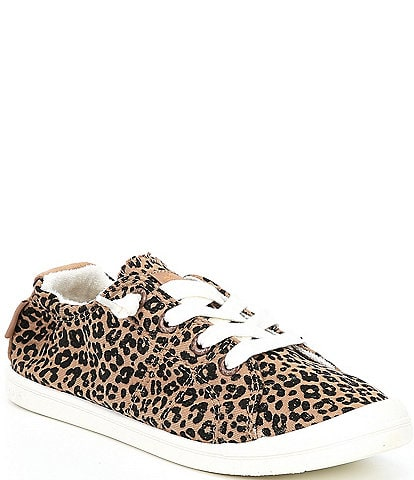 Roxy Bayshore III Canvas Leopard Slip On Sneakers