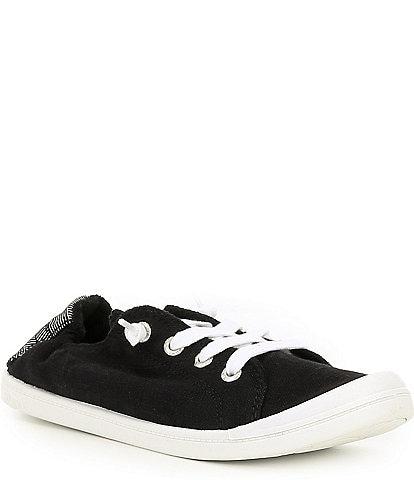 Roxy Bayshore III Canvas Stripe Heel Detail Slip-On Sneakers