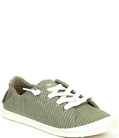 Roxy Bayshore III Canvas Striped Heel Detail Slip-On Sneakers