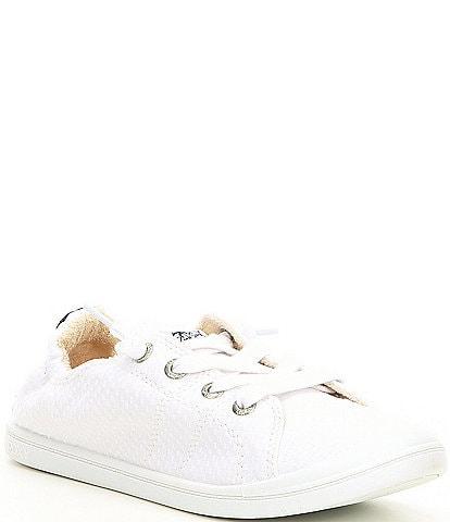 Roxy Bayshore III Textured Canvas Stitch Heel Detail Slip-On Sneakers