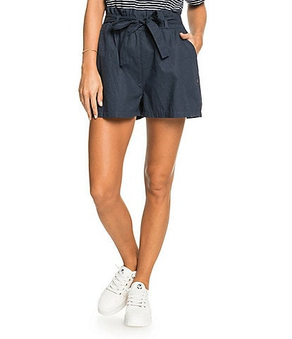 Roxy Be My Darling Paperbag-Waist Solid Shorts