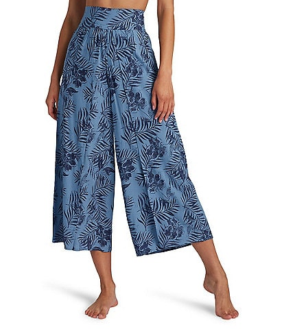 Roxy Beach Walk Palm Leaf Print Pants