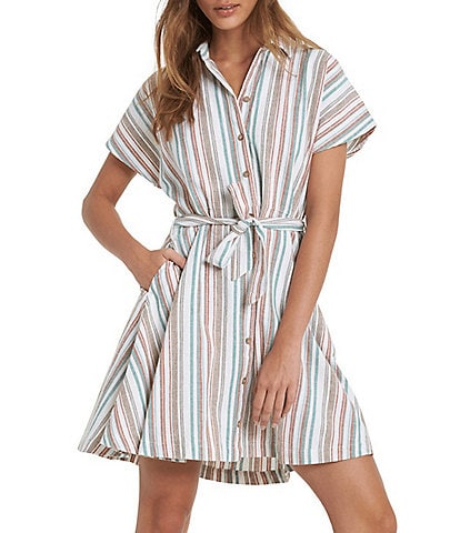 Roxy Beachward Dolman-Sleeve Short Shirtdress