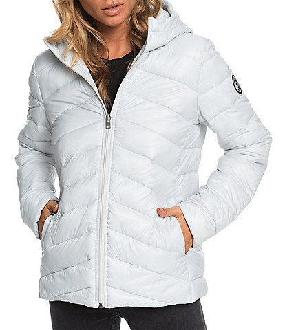Roxy Coast Road Hooded Puffer Snow Ski Jacket