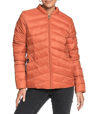 Roxy Coast Road Long-Sleeve Water Resistant Puffer Coat