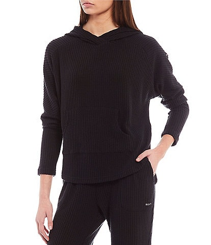 Roxy Coordinating Long-Sleeve Sky At Night Cozy Waffle Knit Pullover Hoodie