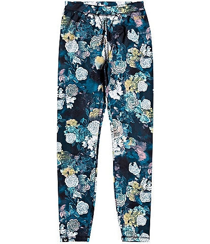 Roxy Daybreak Technical Base Layer True Black Sammy Floral Snow Ski Bottoms