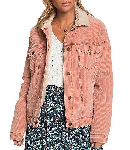 Roxy Good Fortune Corduroy Sherpa Jacket