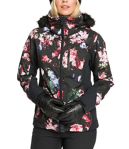Roxy Jet Ski Premium Blooming Party Faux-Fur Snow Ski Jacket