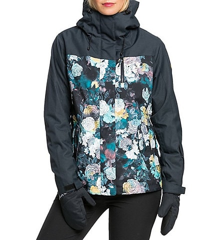 Roxy Jetty Three-In-One True Black Sammy Floral Snow Ski Jacket