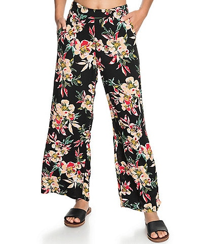 Roxy Midnight Avenue Floral Wide Leg Pants