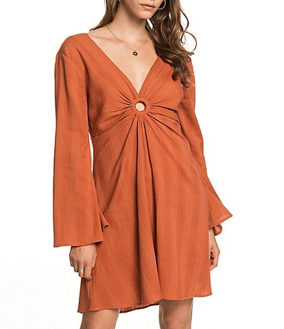 Roxy Nothing Compares Long-Sleeve A-Line Dress