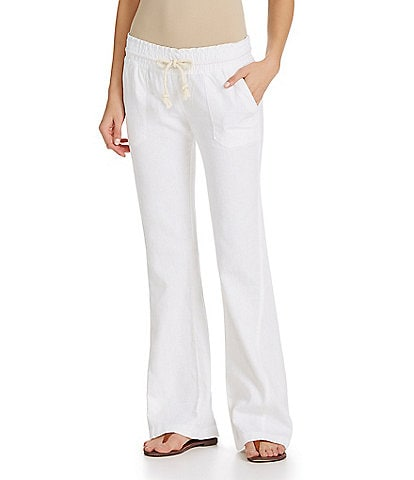 08d73a01dd Roxy Oceanside Linen-Blend Wide Leg Pants